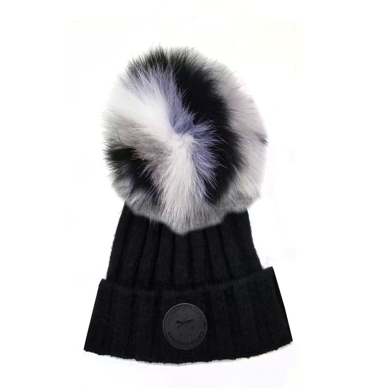 Game face Fur hat Black / Lavender  Fur
