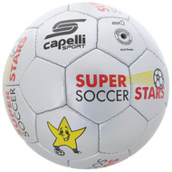 SUPER SOCCER STARS  BALL SIZES 3-4-5   --  SILVER