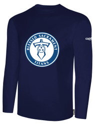 BASIC I LONG SLEEVE T-SHIRT -- NAVY **** PRODUCT WILL BE AVAILABLE 12/11
