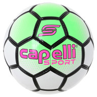 BOWERY HAND STITCHED SOCCER BALL -- NEON GREEN WHITE BLACK