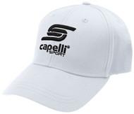 ADULT  CS ONE BASEBALL CAP -- WHITE BLACK