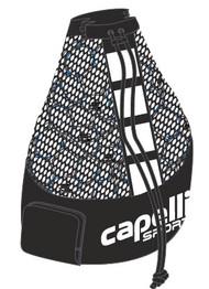 CAPELLI SPORT BALL BAG (HOLDS 15 SIZE 5 BALLS) --  BLACK WHITE