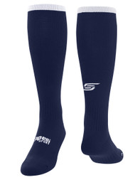 CS ONE SOCCER SOCKS W/ANKLE AND ARCH SUPPORT -- NAVY WHITE
