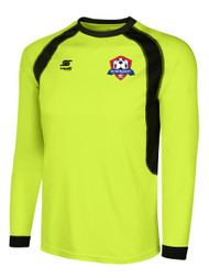 IRONDEQUOIT SC RAVEN LONG SLEEVE GOALIE JERSEY -- LIME BLACK