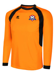 IRONDEQUOIT SC RAVEN LONG SLEEVE GOALIE JERSEY -- NEON ORANGE BLACK