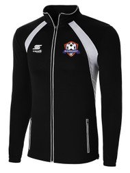 IRONDEQUOIT SC RAVEN TRAINING JACKET -- BLACK WHITE  ( $44 - $ 48 )