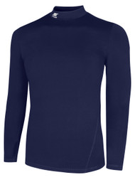 IRONDEQUOIT SC TUNDRA LONG SLEEVE MOCK TURTLENECK PERFORMANCE TOP -- ELITE NAVY    ( $23- $25 )