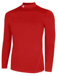 IRONDEQUOIT SC TUNDRA LONG SLEEVE MOCK TURTLENECK PERFORMANCE TOP -- RED  ( $23 - $25)
