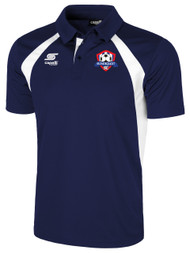 IRONDEQUOIT SC RAVEN POLY POLO -- NAVY WHITE