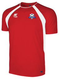 IRONDEQUOIT SC RAVEN TRAINING JERSEY -- RED WHITE  ( $17 - $21 )