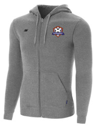 IRONDEQUOIT SC BASICS I ZIP UP HOODIE -- LIGHT HEATHER GREY   ( $30 - $35)