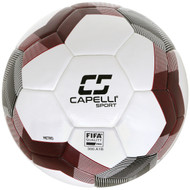CAPELLI SPORT METRO PRO FIFA QUALITY THERMAL BONDED SOCCER BALL -- WHITE BLACK RED