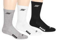 CAPELLI SPORT BASICS CREW SOCK 3 PACK --   BLACK GREY WHITE