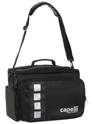 "CAPELLI   SPORT  COACH  MEDICAL BAG    ( 14.37"" L x 9"" W x 10.75"" H)   --    BLACK SILVER"