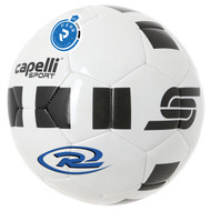 PENN FC PRO 4 CUBE MACHINE STITCHED SOCCER BALL -- WHITE BLACK