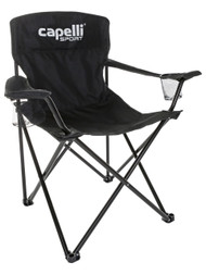 FOLDING CHAIR WITH CUP HOLDER  --   BLACK