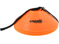 10 PCS TRAINING CONES WITH CARRY  STRAP --   ORANGE BLACK