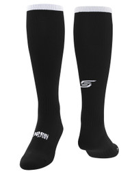 CS ONE SOCCER SOCKS w /ANKLE AND ARCH SUPPORT -- BLACK WHITE