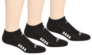 EASTERN CS CUSHIONED NO SHOW SOCKS -- BLACK