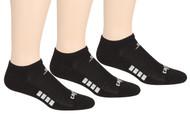 ELITE SPORT TRAINING NO SHOW SOCKS -- BLACK