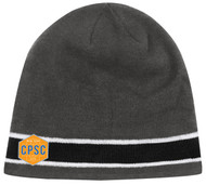 CPSC CS ONE STRIPED KNIT BEANIE -- GREY COMBO