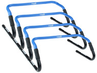4  PIECES  ADJUSTABLE   HURDLES  WITH  RUBBER FEET  --  PROMO BLUE
