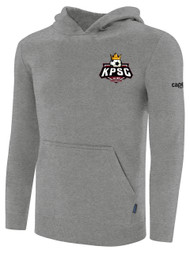 KINGS PARK NUMBER HOODIE WITH EMBROIDERED LOGO ON SLEEVE-- LIGHT GREY