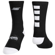 FOUR CUBE CREW SOCKS -- BLACK WHITE