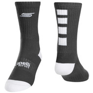 FOUR CUBE CREW SOCKS -- GREY WHITE