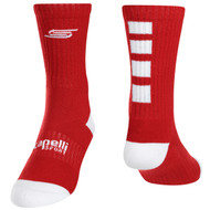 FOUR CUBE CREW SOCKS -- RED WHITE