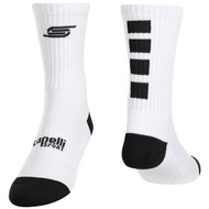 FOUR CUBE CREW SOCKS -- WHITE BLACK