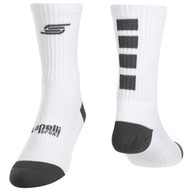 FOUR CUBE CREW SOCKS -- WHITE GREY