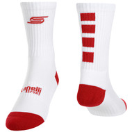FOUR CUBE CREW SOCKS -- WHITE RED
