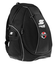 CAPELLI SPORT UTILITY SOCCER BACKPACK  -- BLACK WHITE