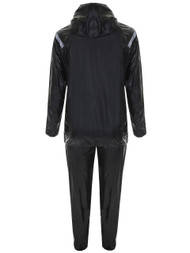 FITNESS DELUXE HOODED SAUNA SUIT -- BLACK