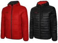 REVERSIBLE LIGHTWEIGHT JACKET WITH HOOD    --  RED BLACK