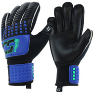 CS 4 CUBE TEAM YOUTH GOALIE GLOVE WITH FINGER PROTECTION -- PROMO BLUE NEON GREEN BLACK