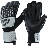 CS 4 CUBE TEAM YOUTH GOALIE GLOVE WITH FINGER PROTECTION -- SILVER BLACK