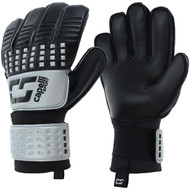 CS 4 CUBE TEAM ADULT GOALKEEPER GLOVE  -- SILVER BLACK