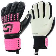 CS 4 CUBE COMPETITION YOUTH GOALKEEPER GLOVE -- NEON PINK NEON GREEN BLACK
