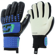 CS 4 CUBE COMPETITION YOUTH GOALKEEPER GLOVE  -- PROMO BLUE NEON GREEN BLACK