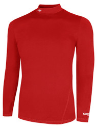 CS  WARM LONG SLEEVE COMPRESSION SHIRT WITH  TURTLENECK -- RED     $30 - $32
