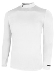 CS  WARM LONG SLEEVE COMPRESSION SHIRT WITH  TURTLENECK - WHITE   $30 - $32