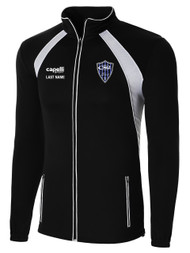 RUSH RAVEN TRAINING JACKET -- BLACK WHITE