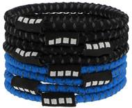 8 PACK NO SLIP ELASTIC PONY HOLDER  --    BRIGHT BLUE