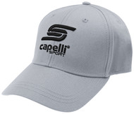HCI PRO PROMO BASEBALL CAP-- LIGHT GREY BLACK