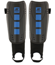 CS FOUR CUBES SHIN GUARDS WITH ANKLE STRAP     --  BLUE