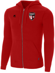 COAST FA ADULT ZIP UP HOODIE  --  RED