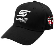 COAST FA  ADULT BASEBALL CAP -- BLACK WHITE