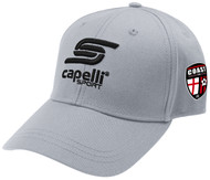 COAST FA  ADULT BASEBALL CAP --  LIGHT GREY BLACK